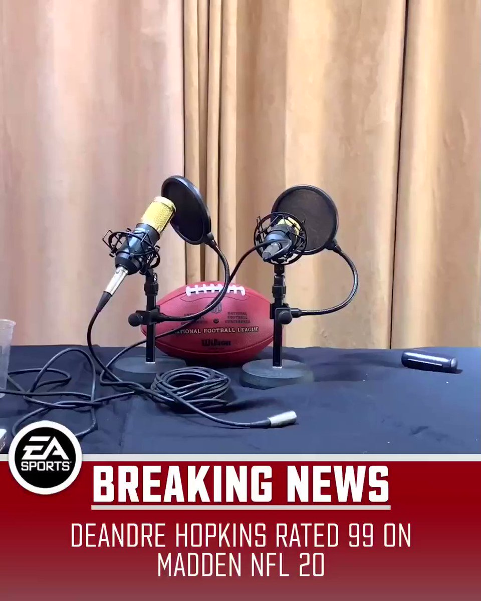 LIVE » Coach @KingKeraun reacts to @DeAndreHopkins' 99 overall rating. 😂  (P.S. Look out for 3 new catches. 👀)  #99Club   @EAMaddenNFL https://t.co/iAgSttbs3b