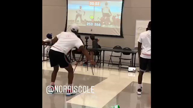 @DwyaneWade @pg30_Cole getting after it in reaction training 😂😂