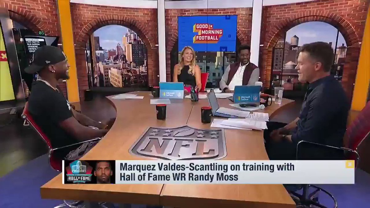 From 5th-round pick to playing with one of the NFLs best QBs... Maquez Valdes-Scantling talks about catching passes from @AaronRodgers12 👇 📺: GMFB