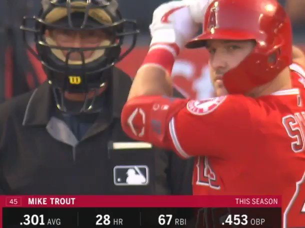 What an incredible home run by Trout