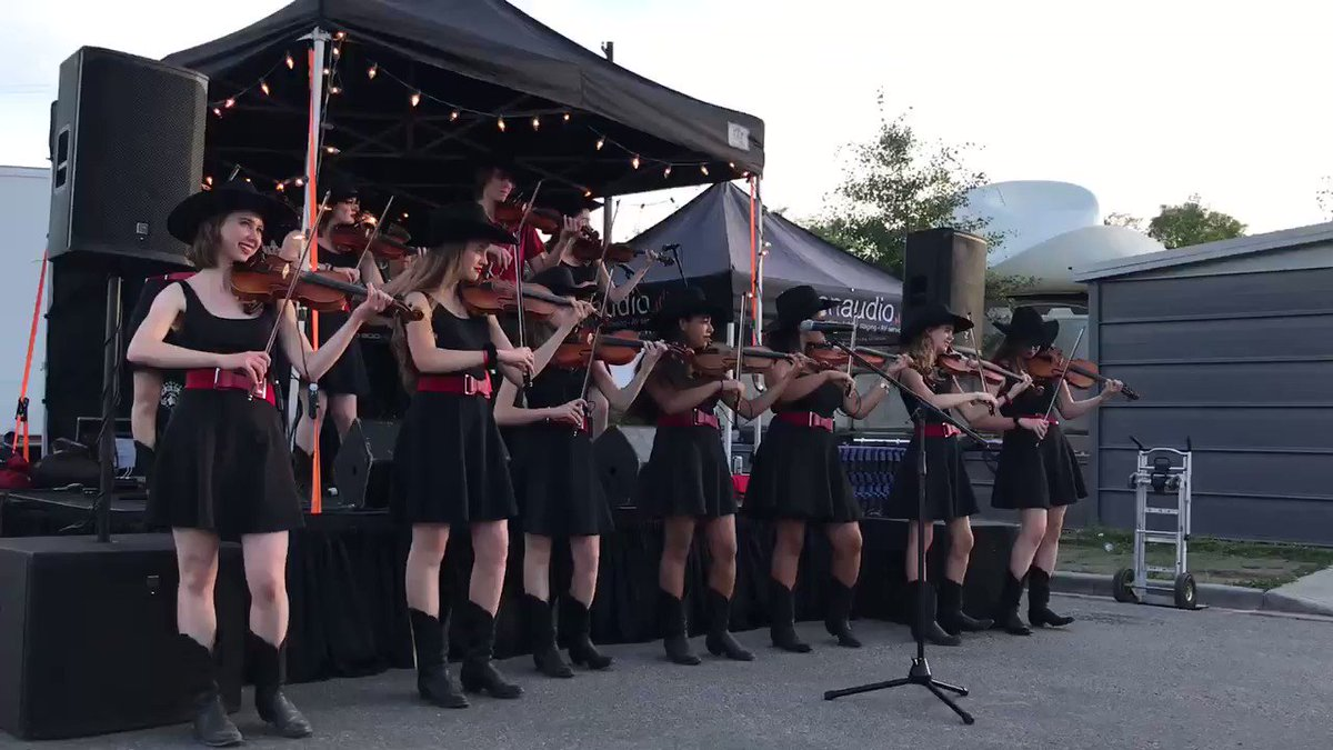 Image for the Tweet beginning: The @CalgaryFiddlers doing what they