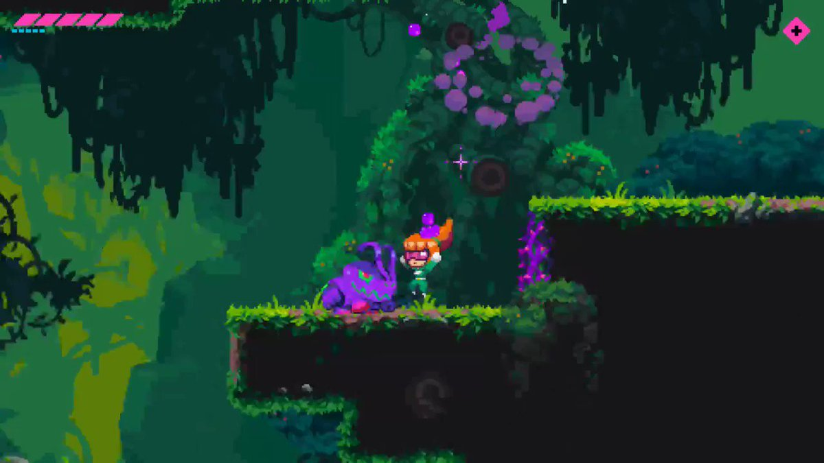 Here's your favourite girl for some #screenshotsaturday action!  #lume #theshiftingvoid #gamedev #indiedev #gaming #nindies #indiegames #platformer #metroidvania #pixelart #newretro