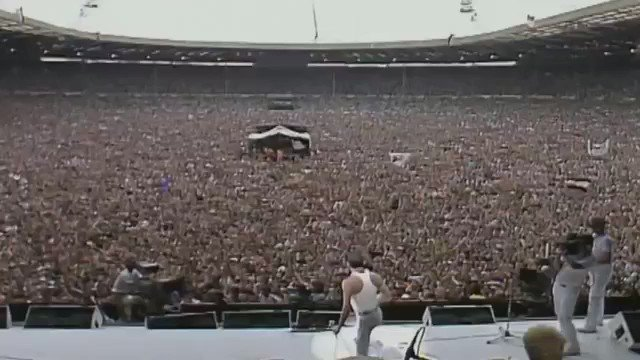 34 years ago today one man single handedly captivated the entire world #LiveAid