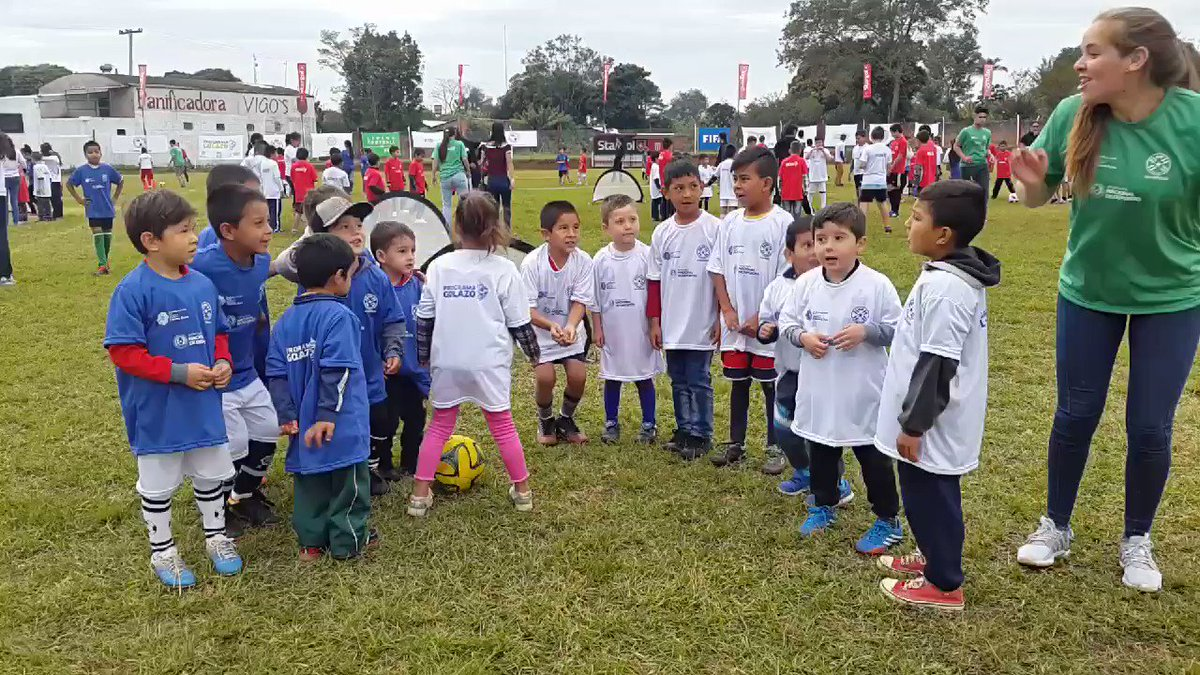 Arrancó una edición más del Programa #GOLAZO,  esta vez en la Ciudad de San Pedro del Paraná - Itapúa • La jornada se vive con mucha emoción de los niños y niñas que disfrutan la fiesta deportiva • #VamosParaguay
