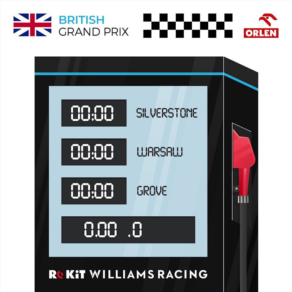 Wondering what time our home race starts tomorrow? Our partners at @PKN_ORLEN are here to help #BritishGP 🇬🇧
