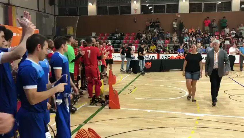 #Andorra, segona al campionat sènior d'hoquei patins dels @wrgbarcelona després de caure davant #Moçambic (3-4)