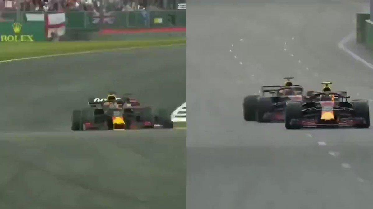 Comparazione crash Ric/Ver vs Vet/Vers #britishgp