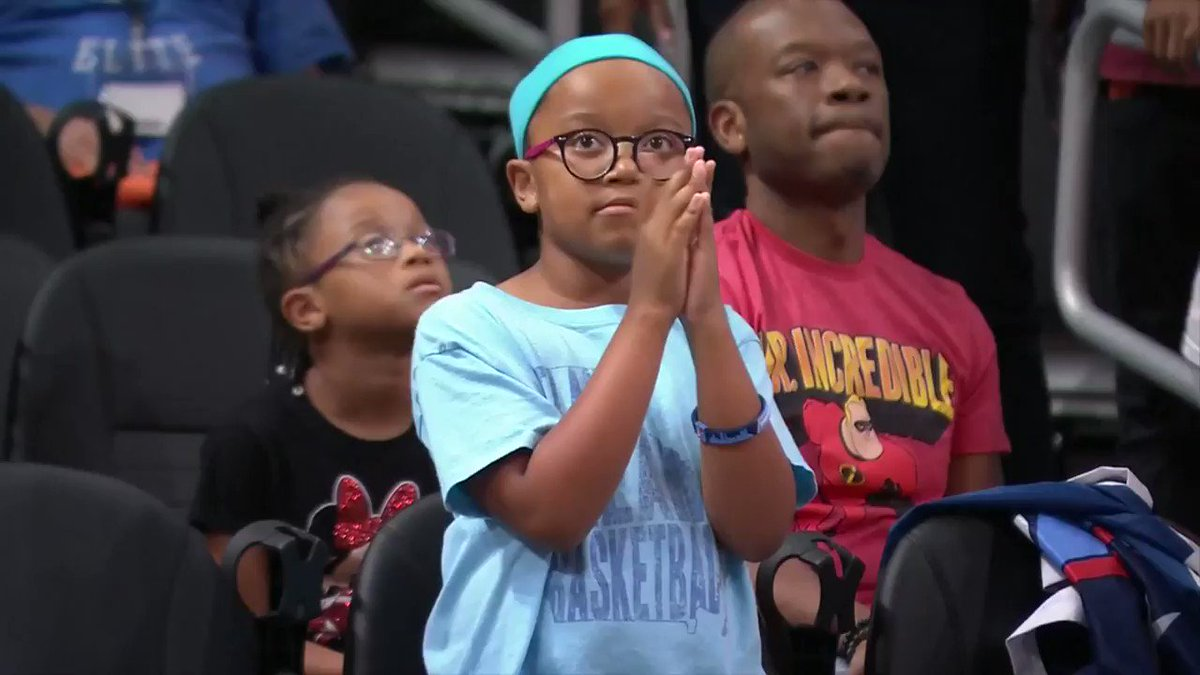 We spotted a Brittney Sykes super fan 👀 @AtlantaDream #GoDream