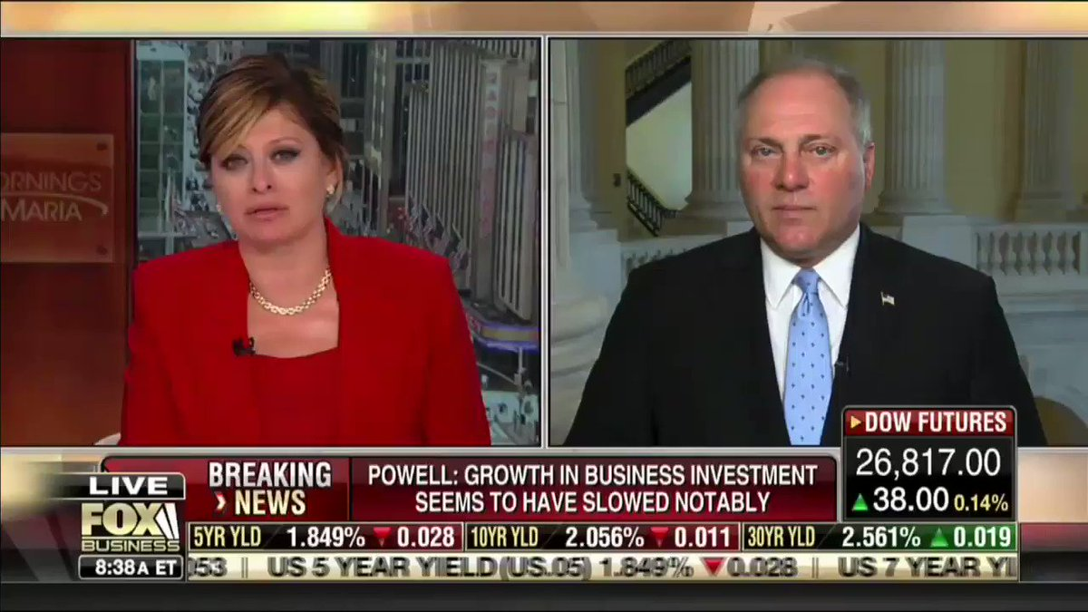 """""""I think people are fed up with this. They're looking at it. They're watching every Democrat on the Presidential stage saying that they want free taxpayer benefits, free health care, for people here illegally.""""—@SteveScalise"""