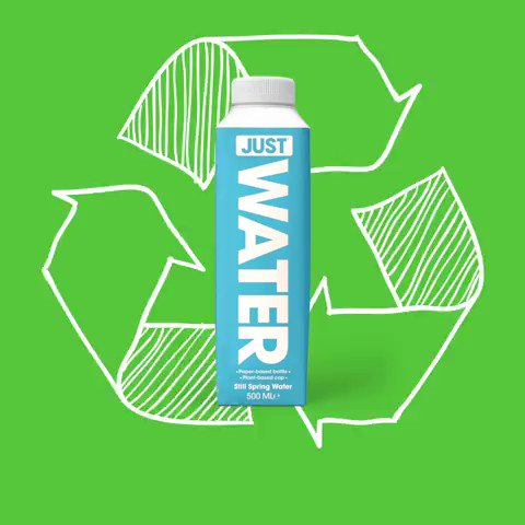 Reduce, reuse,  ♻️! The entire life cycle of a sustainable product matters 🙌 #JUSTWater