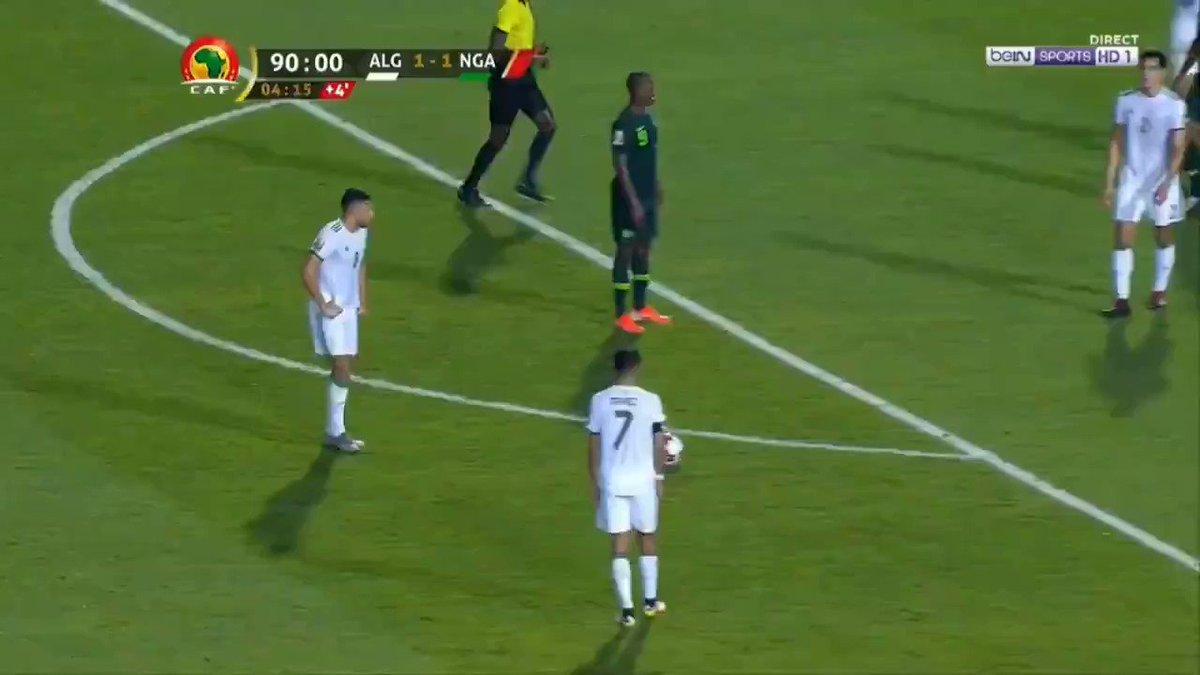 I N D E S C R I P T I B L E 😭🇩🇿💚🤲🏼  #Elhamdulilah tellement heureux & fier... direction la finale !!! Tahia Djazair  #CAN2019