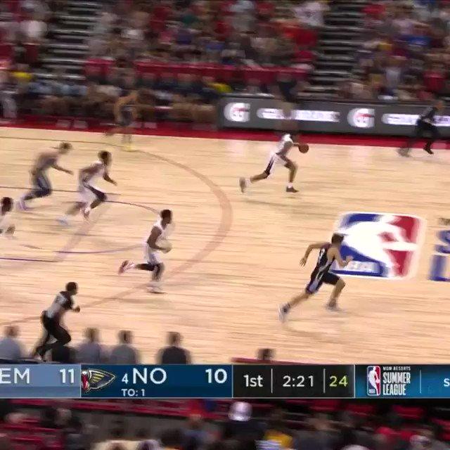 Grayson Allen denies the transition dunk attempt! #NBASummer  📺: ESPN2