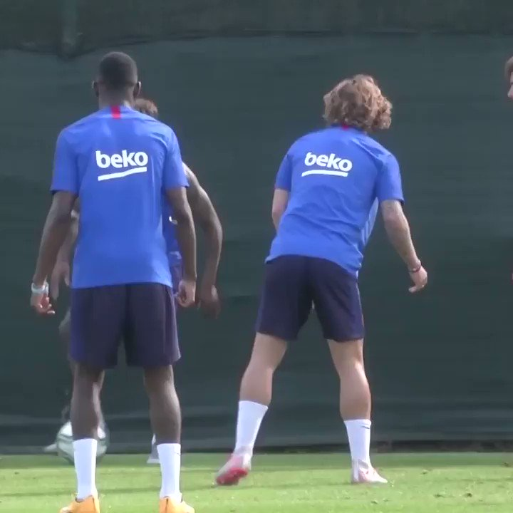 Welcome to the club, @AntoGriezmann 😂 The World Cup winner gets nutmegged not once, but twice in his first #Barcelona training session. We've all been there 😅
