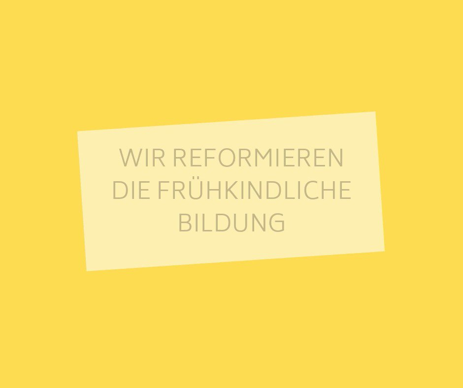Image for the Tweet beginning: Mit der #KiBiz-Reform schaffen wir