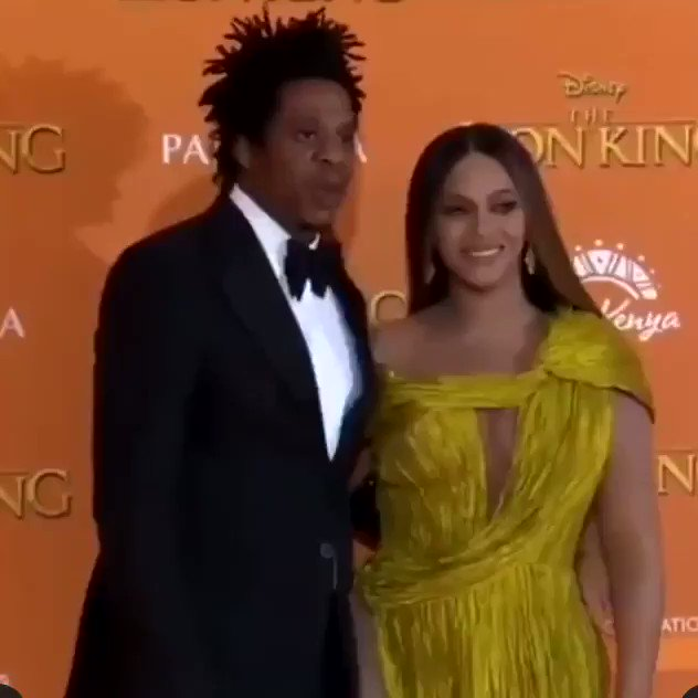 Bey & Jay at The Lion King premiere in London❤️
