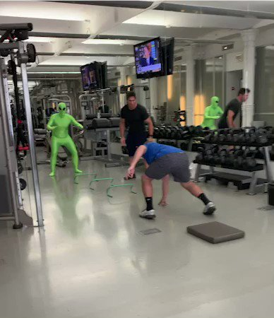 He's training to free the aliens at Area 51...