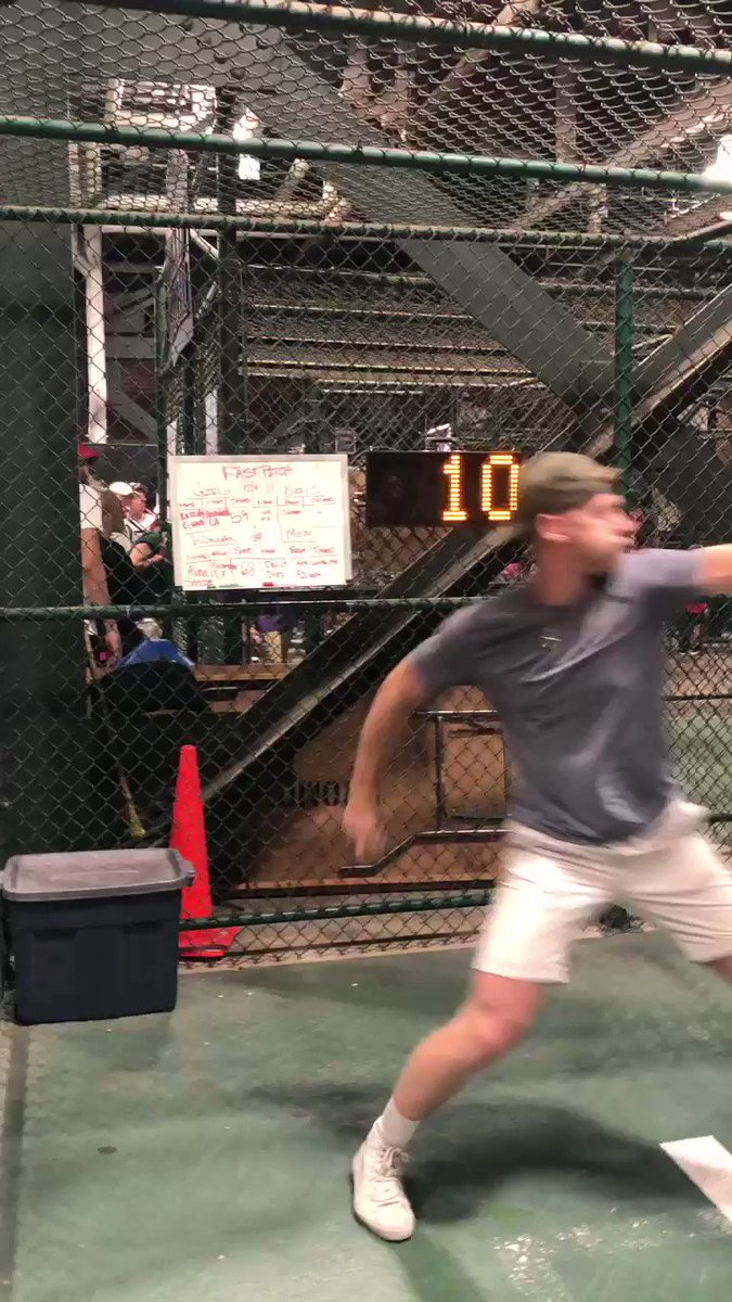 Nathan Patterson: Oakland A's sign baseball fan seen on video throwing 96 mph in stadium pitch challenge