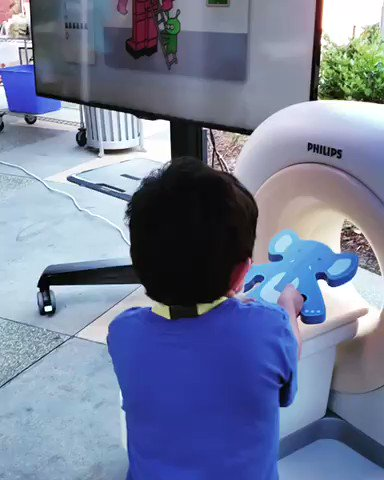Image for the Tweet beginning: Angel, 8, with CHLA's Radiology