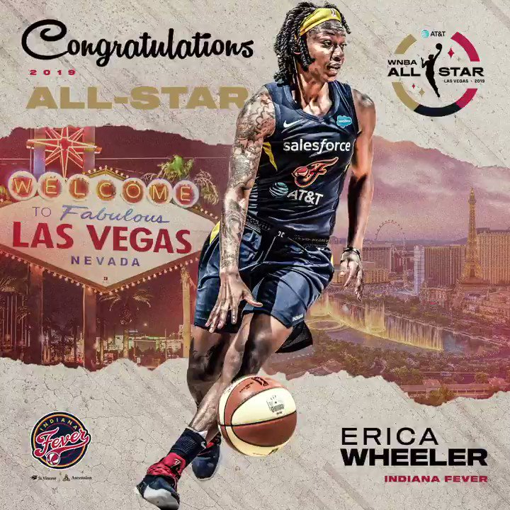 #EARNED  Congrats to @EWeezy_For3eezy on her first All-Star selection!  Wheeler is only the fifth undrafted free agent ever named to a WNBA All-Star Game. No undrafted player has debuted in the league since 2003 and earned selection in the All-Star game – except Wheeler.