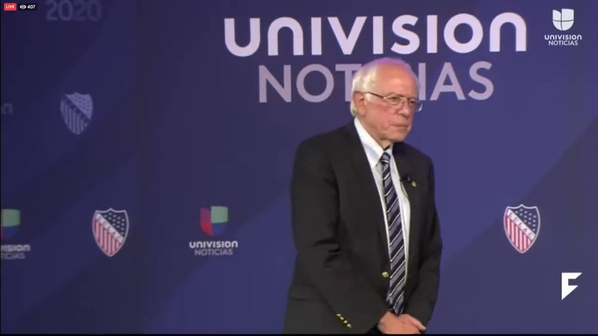Bernie Sanders was asked if he'd let Americans keep their private health insurance if they wanted to. He said no! #MedicareForAll #M4A