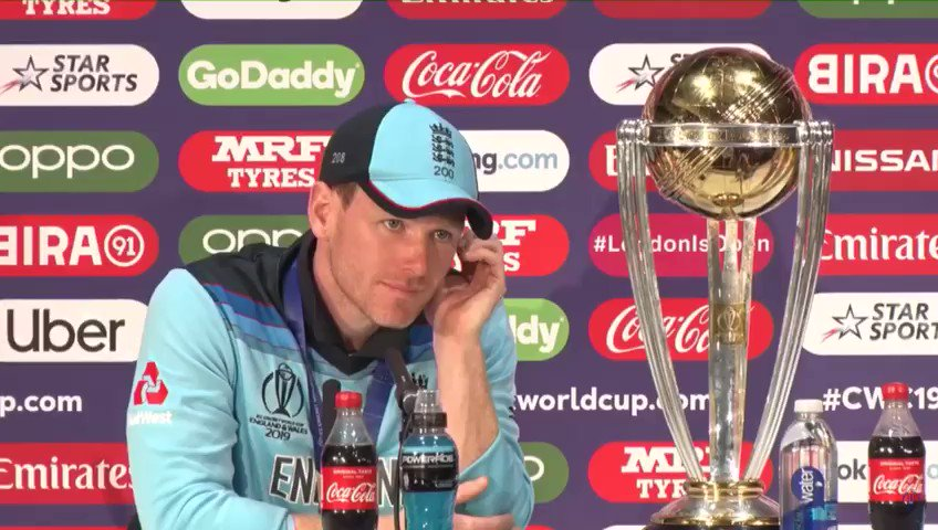 """""""We had Allah with us"""" England cricket team captain. #CricketWorldCup19 #CWC19"""