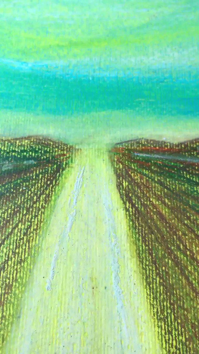 Ritocchi finali del dipinto Fronteversismo sogno ed orizzonti di pace #working #new #painting #art #peace