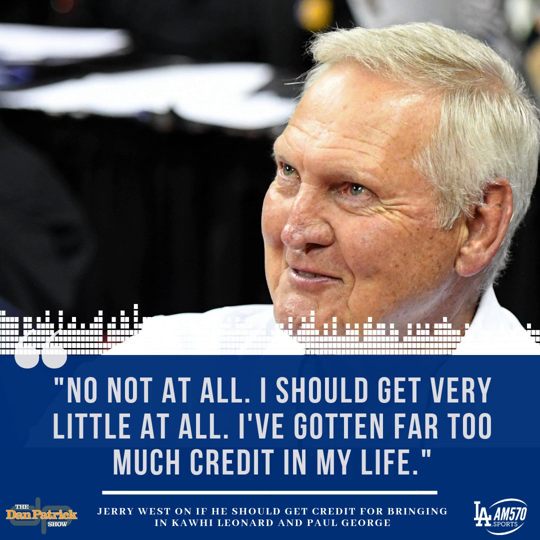 #JerryWest talks about the #Clippers acquiring #KawhiLeonard and #PaulGeorge and how doesnt want a lot of the credit for it. (@dpshow) FULL INTERVIEW: ihr.fm/2LnpcAN