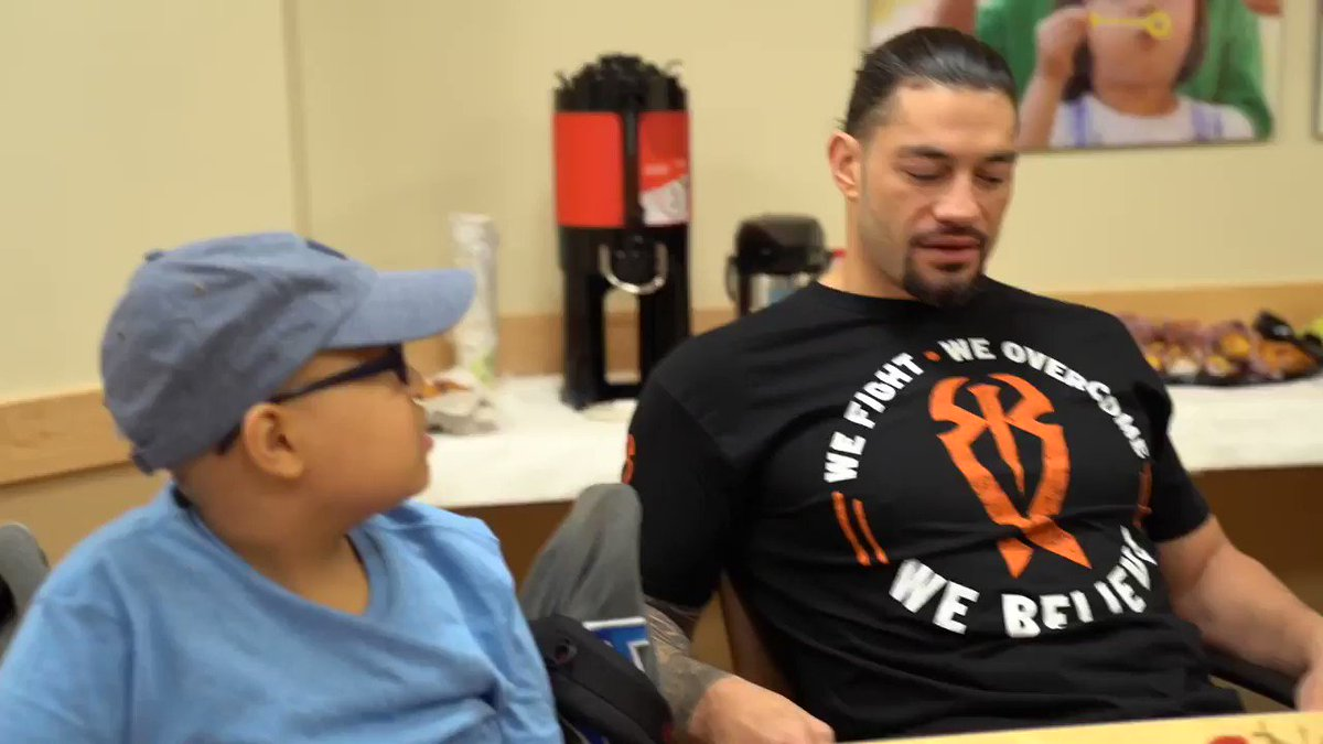 .@WWERomanReigns paid a very special visit to @MontefioreNYC this morning before #RAW!  Children like Miguel are an inspiration to so many. ❤️ #ConnorsCure @ConnorsCure