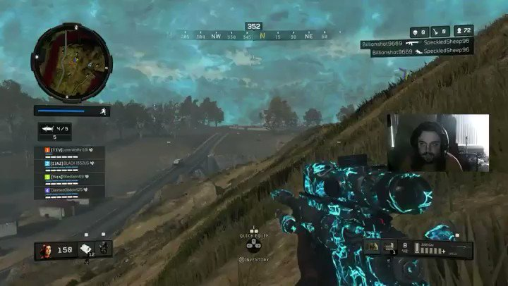 Seriously though, the Locus is OP! I didn't even have an extended barrel on & this is what the bullet drop is like 😮  #bo4 #blackops4 #blackout #cod #callofduty #xb1 #xbox #twitch #twitchclips #smallstreamer #smallstreamers #gamer #battleroyale #br #snipes #sniper