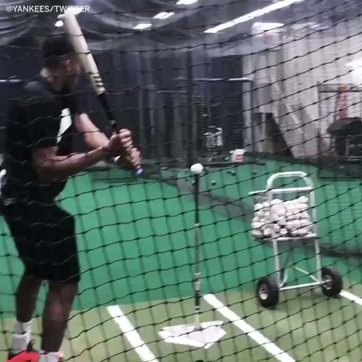 Giannis trying to hit a baseball...yikes More people can catch a football or make a basket than hit a baseball.