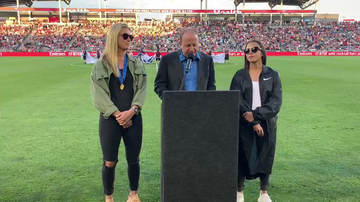 Go #Rapids96! Go @USWNT! Go #Denver2026!  👏🇺🇸👏🇺🇸👏🇺🇸  @GovofCO honored @LindseyHoran & @MalPugh on their AMAZING run with the #USWNT! #OneNationOneTeam