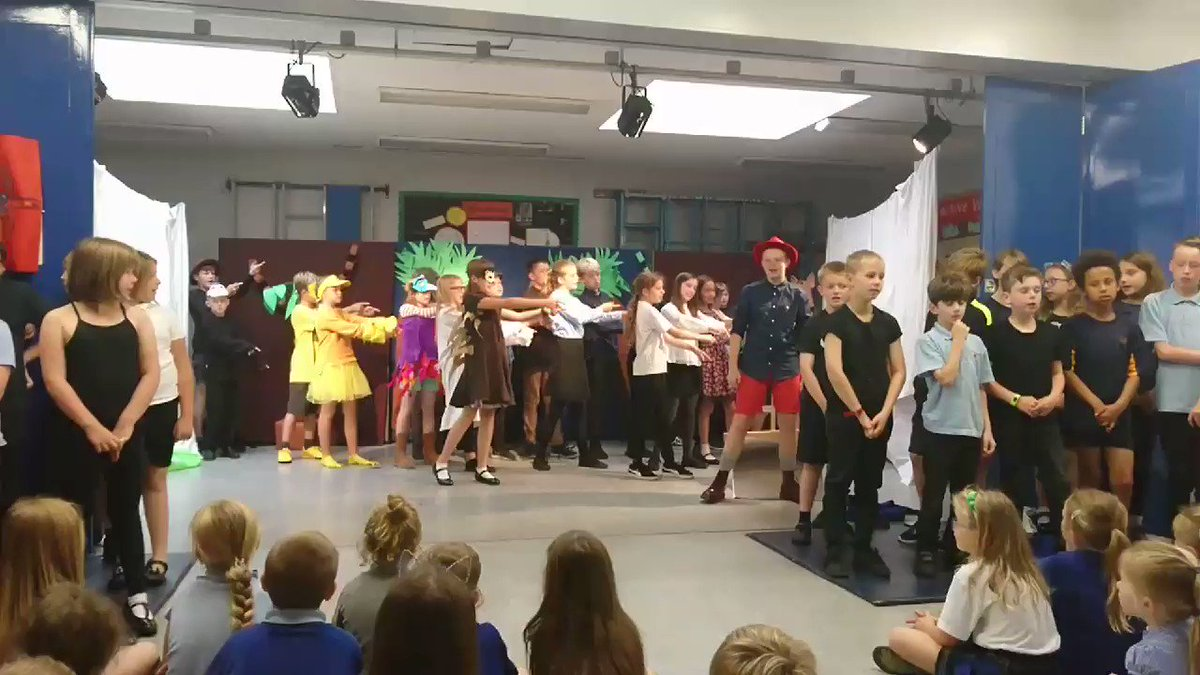 Dress rehearsal of Dr Dolittle, with the first performance this afternoon!