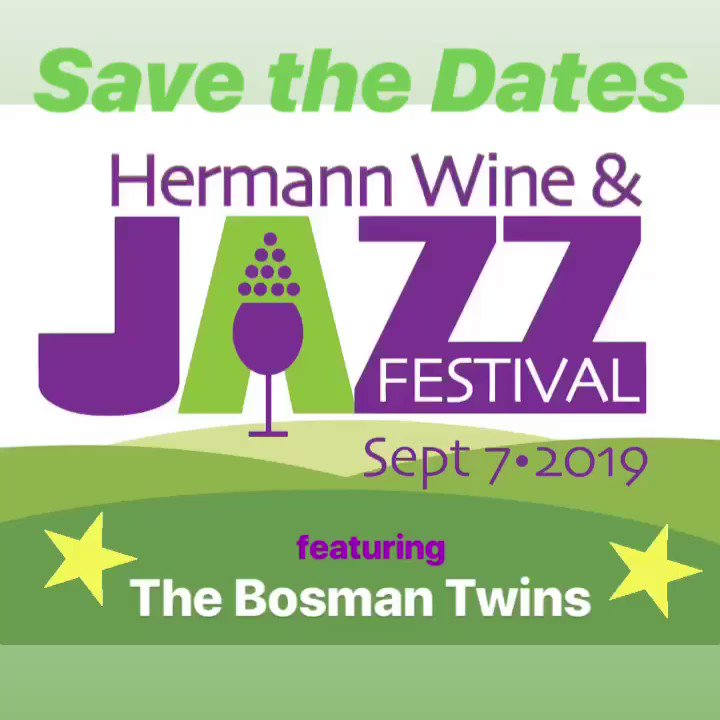 #Getaway to #winecountry! FREE, 5th Annual Hermann Wine &Jazz #Festival (#HWJF19) September 6-8, 2019.  Enjoy award-winning wines, jazz +culinary delights. Travel is easy w/ #Amtrak (40% off) as is lodging for all budgets. Visit http://hermannjazz.com  +http://visithermann.com