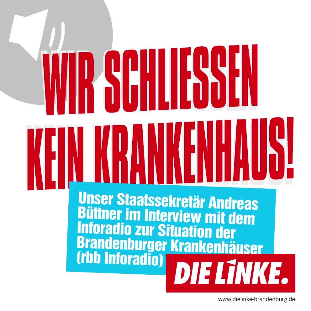 Medizinische Versorgung ist ein Grundrecht. Deshalb werden wir in #Brandenburg keine #Krankenhäuser schließen.  Das hat auch @BuettnerAndreas heute im @rbbinforadio bekräftigt: https://www.inforadio.de/programm/schema/sendungen/int/201907/16/355182.html…  #Gesundheit #Danke #UmsGanze