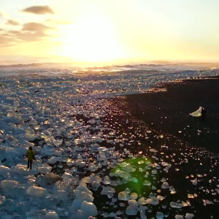 These diamonds are not forever, they are melting icebergs - washed ashore on #DiamondBeach in Iceland! 💠😍 To plan your trip to this magical destination, head to @ThomasCookUK in Garden Square.  📽️: Guide to Iceland   #Iceland #Travel #Holiday #TravelTuesday #TuesdayThoughts