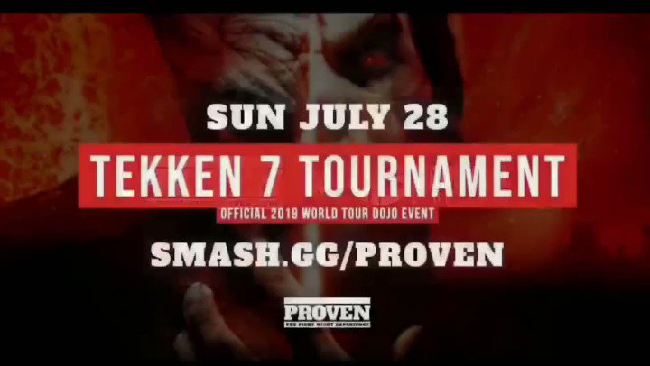 🔥🎮Registration for PROVEN ends Monday July 22nd so there is still time!   $1K Pot! And more!   Thanks to everyone that has already registered! #TWT2019 #tekken #esports #michiganfgc #Lansing #tekken7 #hype #fgc #register #event #entertainment #proam