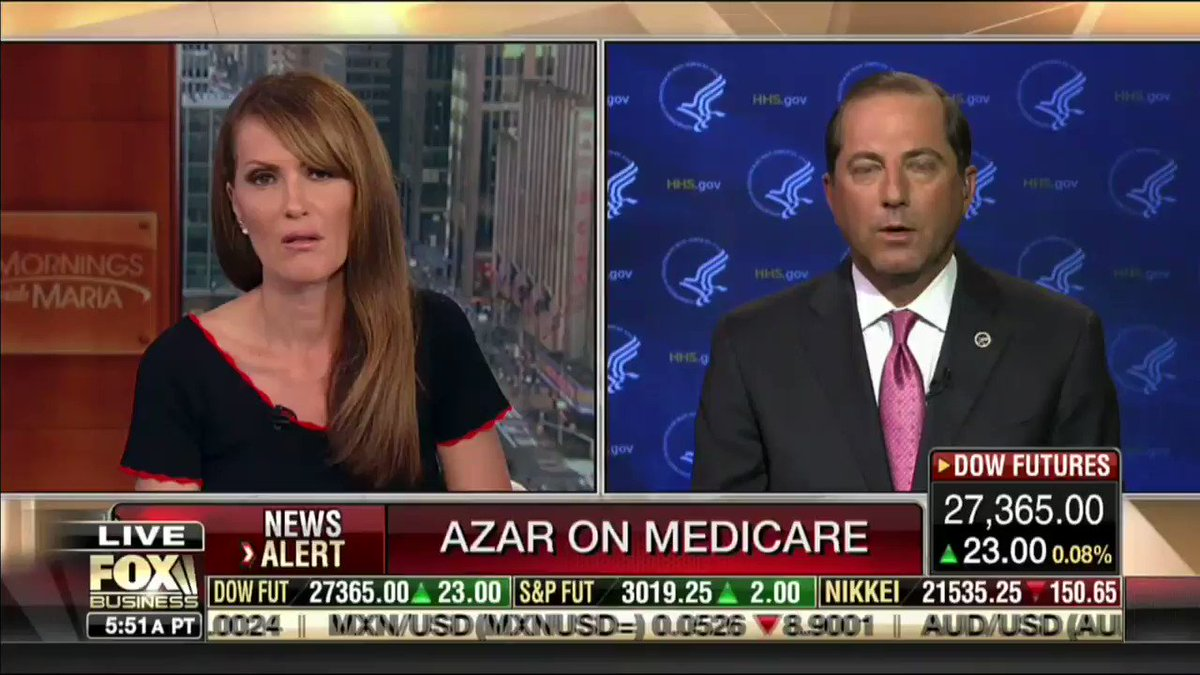 """President @realDonaldTrump is committed to protecting Medicare for American seniors."" -@SecAzar"