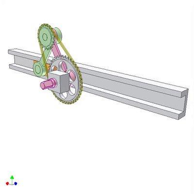 Slider Crank Mechanism of Equal Crank and Conrod Length