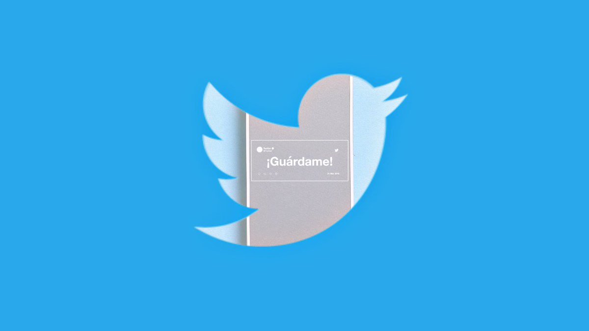 ¿Te encontraste un tweet que te encantó y no quieres que se te pierda? ¿O hay uno que te enseña algo súper útil (como este 😆)? ¡Guárdalo y míralo más tarde! Es súper fácil, mira el video. #ConAyudaDeTwitter