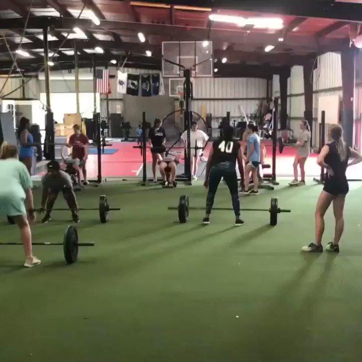 Helena Volleyball and Soccer team working hard this morning. #helenaAL #helenahighsoccer #helenahighvolleyball #training #huskies