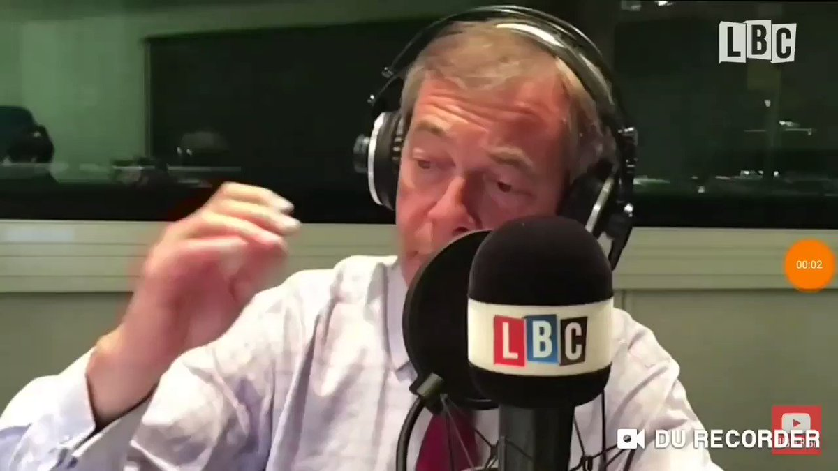 If its of any interest here is the video of Nigel getting angry because I wouldn't let him shout over me or dominate the conversation, showing him up for what he is a hypocrit and a liar! He told me to shut up and then hung up on me!