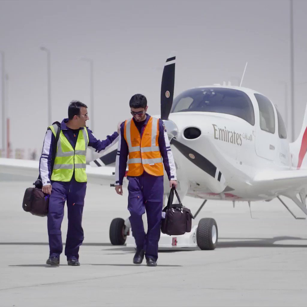 Watch the first solo flight by an @EmiratesFTA cadet pilot as Mohamed Al Dosari takes to the skies in a @Cirrus_Aircraft SR22 G6. bit.ly/2XSuKVD