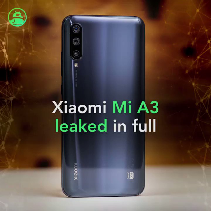 Image for the Tweet beginning: Xiaomi Mi A3: Leaked retail