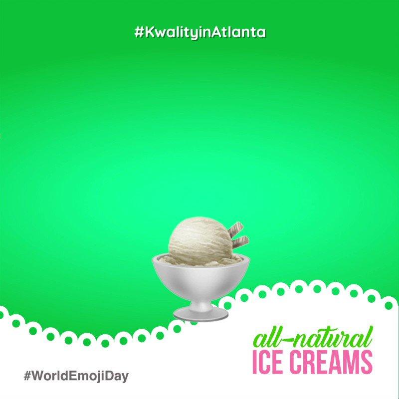 The go-to emojis that perfectly describe our real fruit ice-creams.  . . . #kwalityinatlanta #icecreamshop #icecreamlove #icecreamlovers #icecreamofinsta #desserts #icecreamaddict #atlantafoodies #atlantalife #weloveatl #iloveatl #atlantaga #atlnights #sandysprings #emojiday