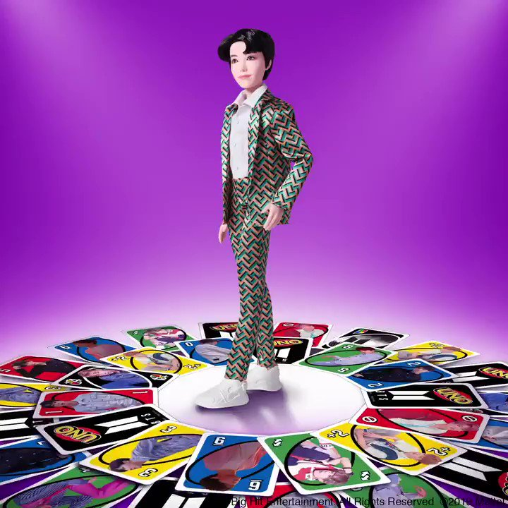 Even our #BTSUNO cards are a big fan! You've been waiting patiently with luv.💜 #BTSxMattel Now available for pre-order at retailers worldwide!