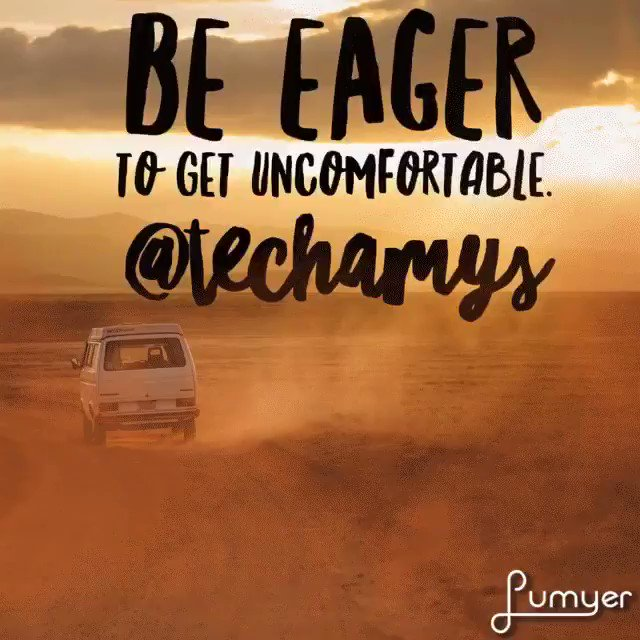 Be eager to get uncomfortable. @SolutionTree @mikemattos65 #AtPLC