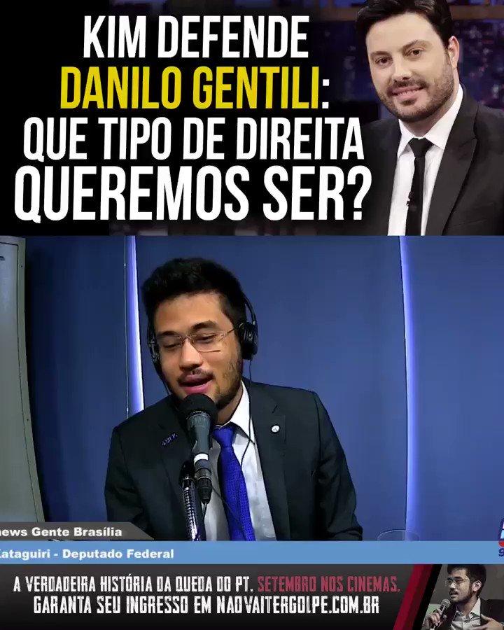 Todo o meu apoio ao humorista @DaniloGentili. A direita precisa fazer um debate interno sério sobre quais caminhos seguir, ou vai correr o risco de se tornar aquilo que sempre criticou.