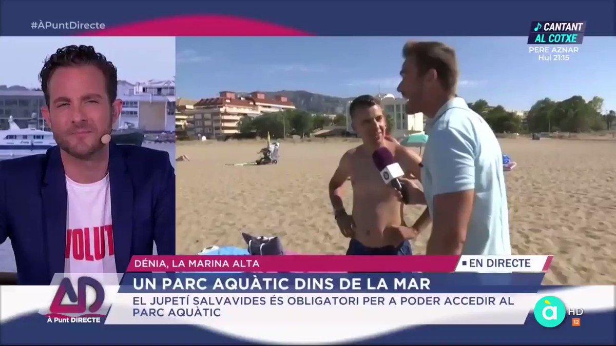Sabíeu que les algues són brutícia? Això li ha dit este madrileny a @dtorres_apunt en @APuntdirecte. De segur que les platges de Madrid estan més netes. Nosaltres coincidim amb @_joanlopez i @_soniafernandez: este xic és un expert. Ens ho ha comentat @_MiK3L_. (17/07/2019)