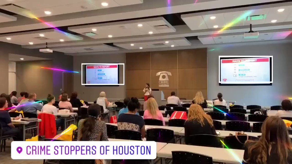 Tonight Cyber Safety Seminar, in partnership with @sprint. @CrimeStopHOU covering cyber trends, new apps and games, safety settings and restrictions, and laws as they relate to cyber safety.  💻➡️http://bit.ly/2Lpf76f  #HISDPD – at Crime Stoppers Of Houston