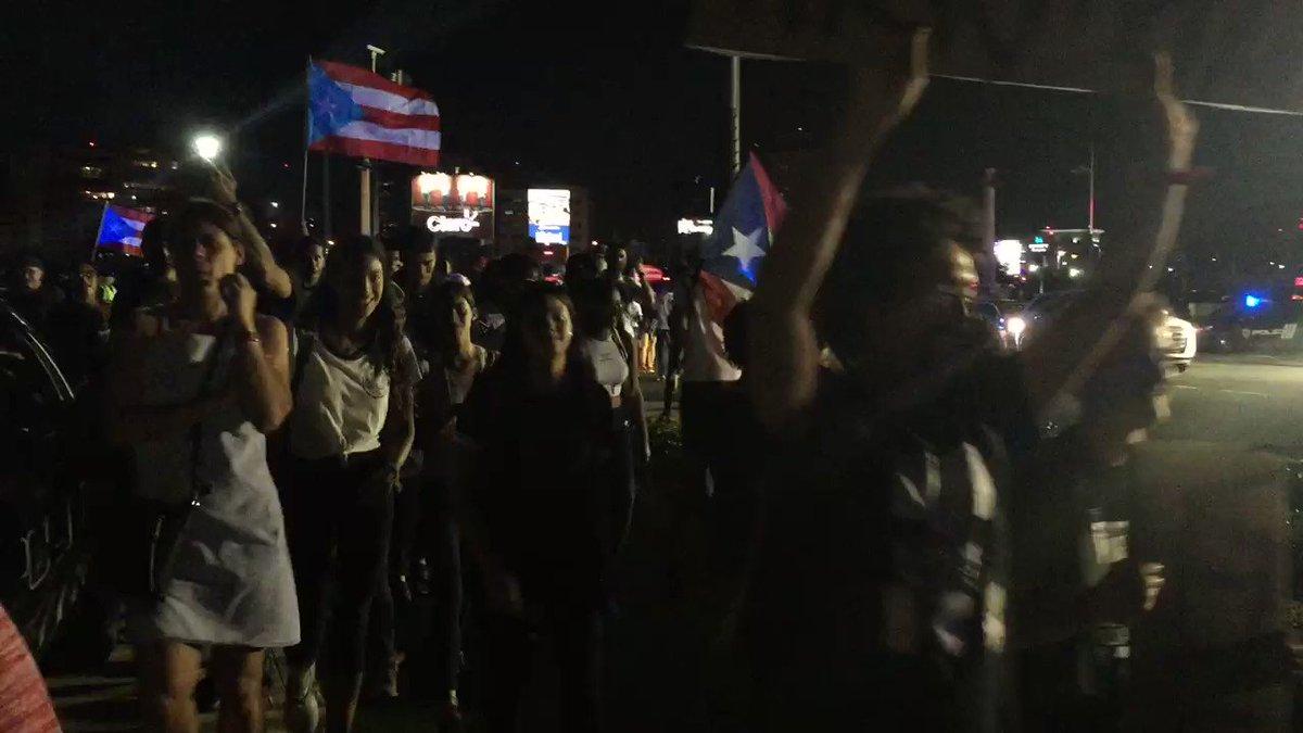 Image for the Tweet beginning: For hours in San Juan